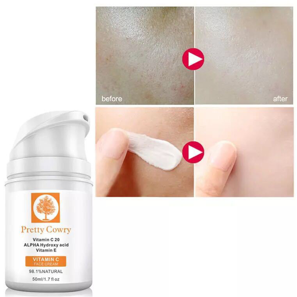 50ml Vitamin C Face Cream Moisturizng Anti Aging Anti Wrinkle Cream for Skincare  2 face cream (orange)