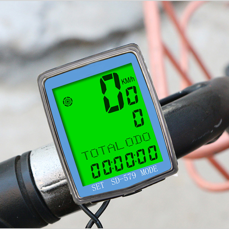 Sd-579a Computer Waterproof Bicycle Computer Odometer Speedometer with Backlight Lcd FFF2029
