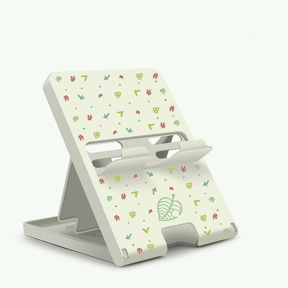 Adjustable Holder Plastic Game Chassis Bracket for Nintendo Switch /lite Animal Crossing white