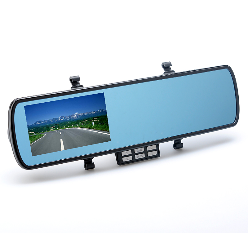 4.3 Inch Car Black Box Rear View Mirror