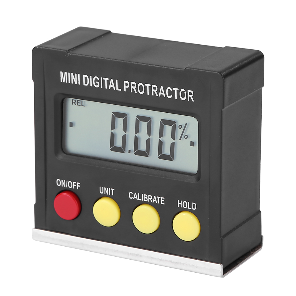 360 Dgree Mini Digital Protractor Gauge Level Angle Finder Inclinometer Magnet Base black