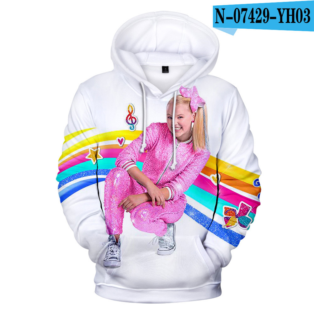 Men Women Hoodie Sweatshirt 3D Printing JOJO SIWA Loose Autumn Winter Pullover Tops H_XXL