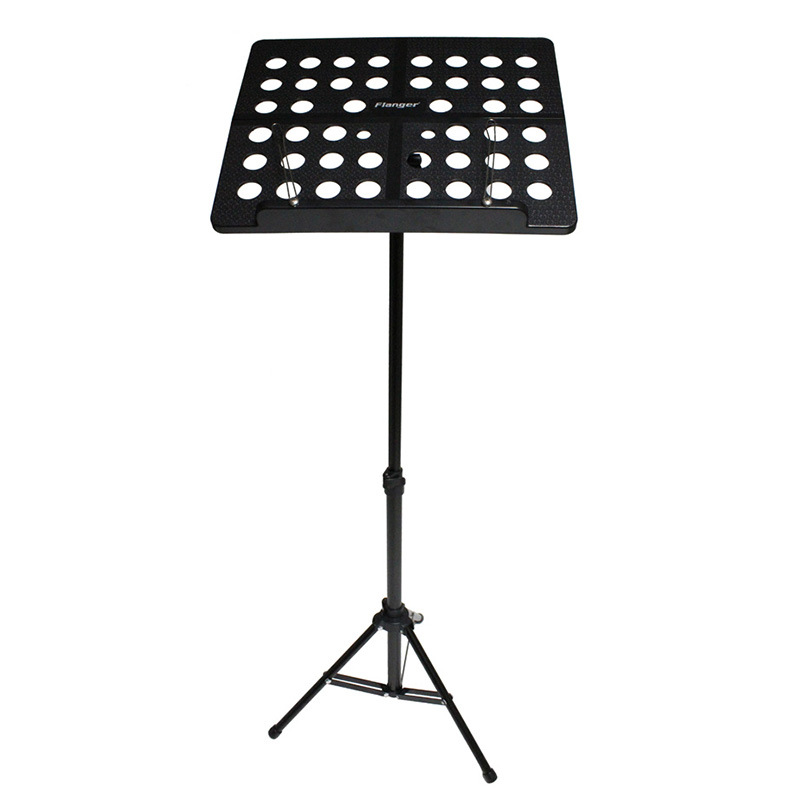 Flanger FL-05R Aluminum Alloy Foldable Sheet Music Tripod Stand Holder with Carrying Bag for Violin Piano Guitar  black