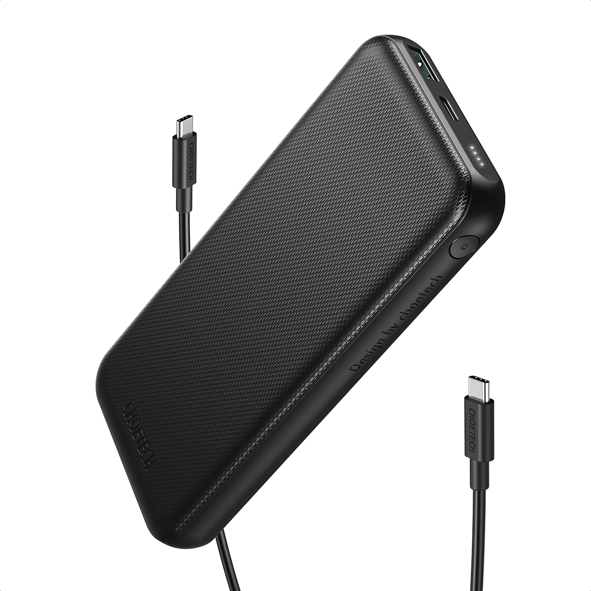 [US Direct] USB-C Power Bank, CHOETECH PD 18W 10000mAh Portable Charger QC 3.0 Fast Charger External Battery Pack for iPhone SE 2020/11/11 Pro/11 Pro Max/XS, iPad Pro, Galaxy S20 Ultra, Huawei, Nintendo Switch 13*2*18