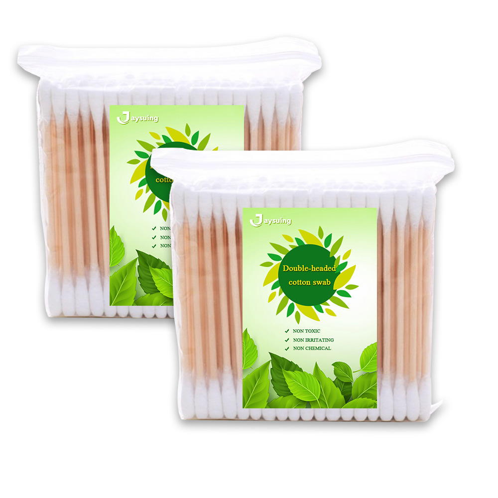 Disposable Cotton Swab with Double End for Make up Ear Cleaning  200pcs