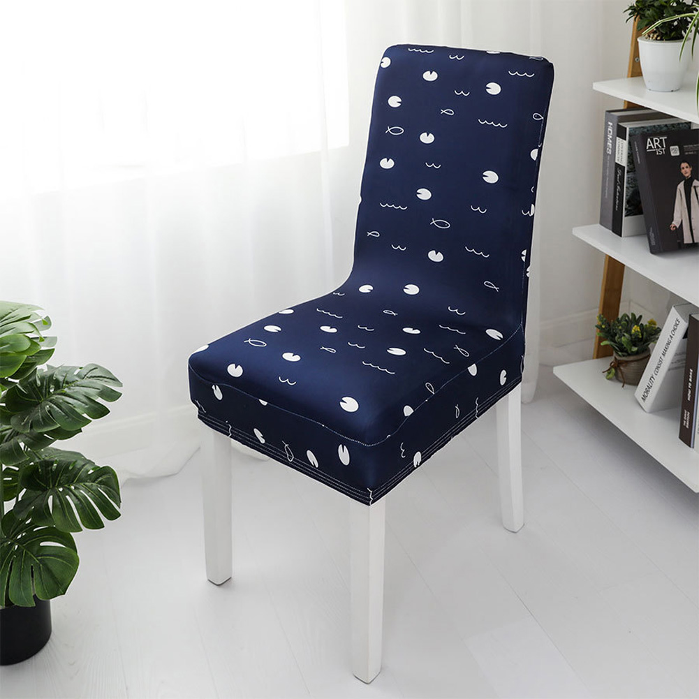 1pc Simple Stretch Chair Cover Home Half Pack Printed Chair Cover Tangqu_One size