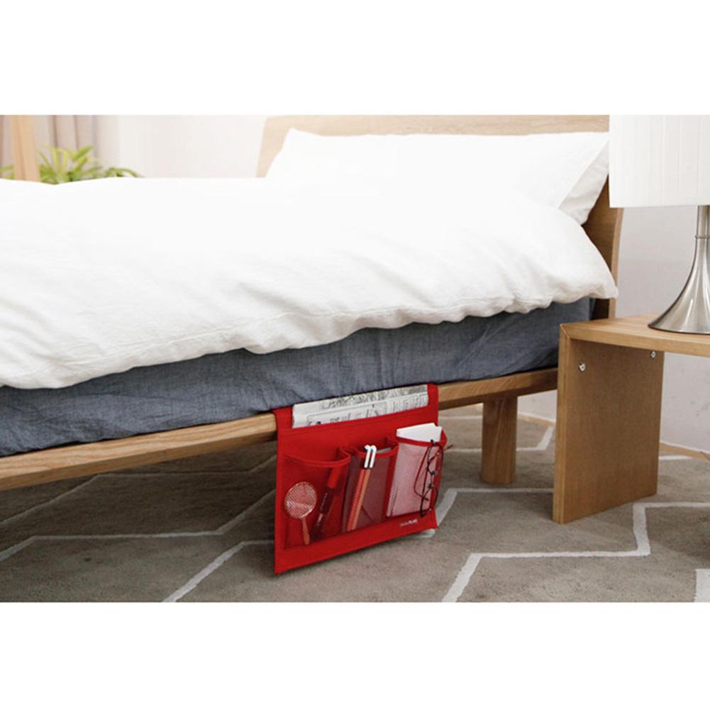 Bed Side Pocket Sofa Bag Oxford Cloth Storage Bag for Mobile Phone Remote Control Glasses red_33 * 24cm