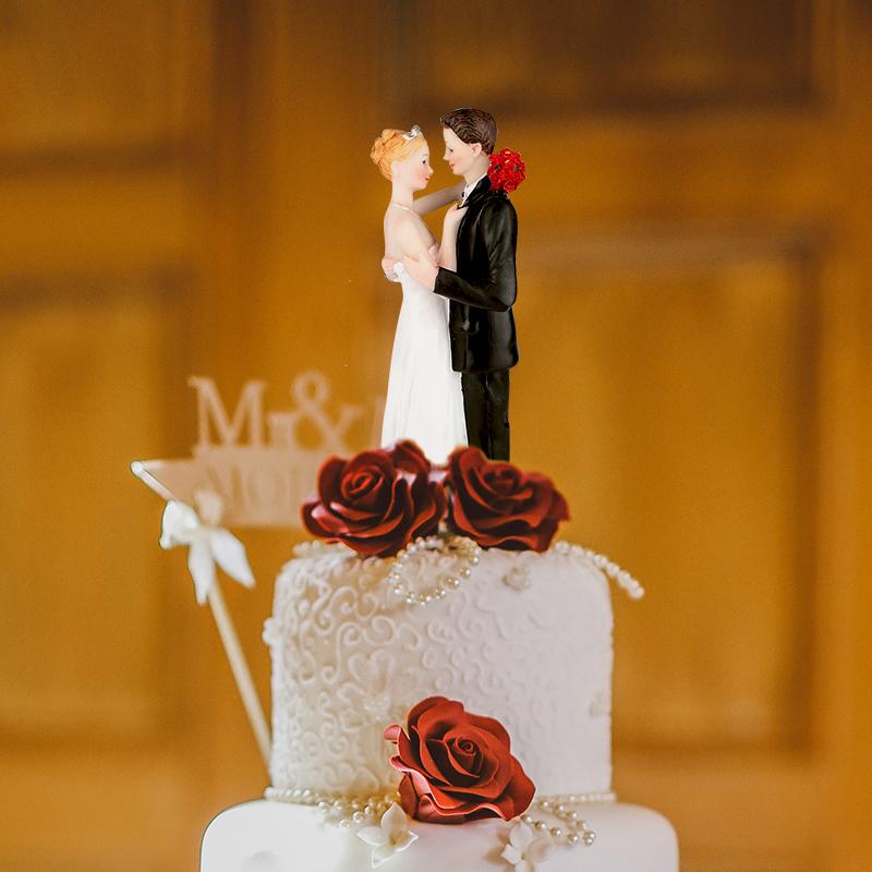 [EU Direct] Wedding cake figurines decorated lovingly