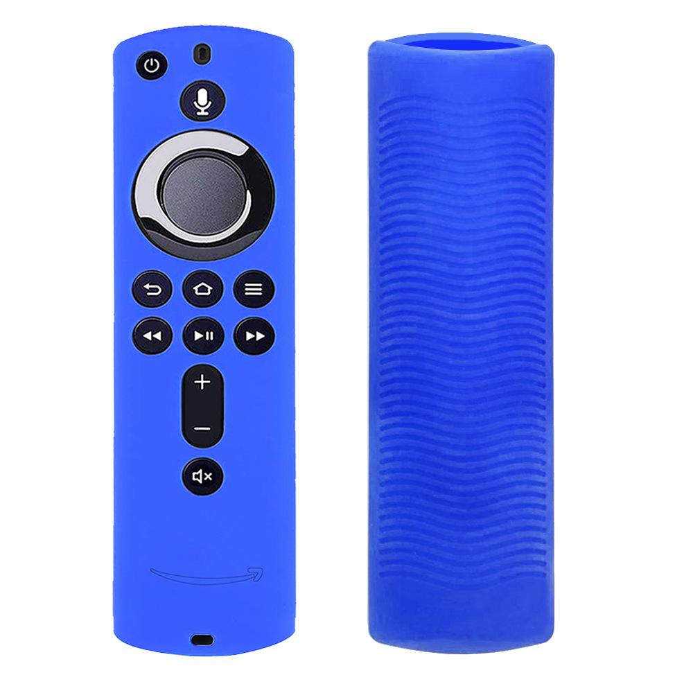 Silicone Case for Fire Tv Stick 4k Voice Remote 5.9inch Remote Control Media Player Protective Cover black