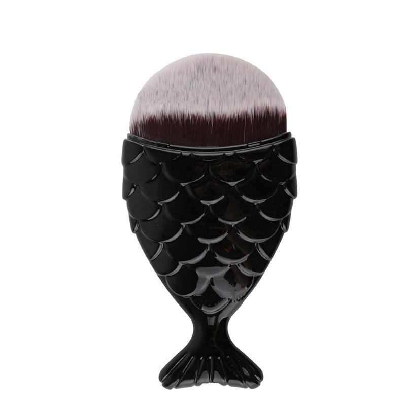 Professional Mermaid Shaped Cosmetic Brush Makeup Tool - 1pcs