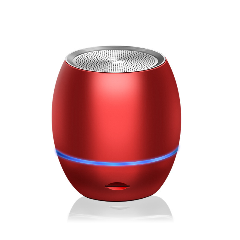 Bluetooth Speakers AI Smart Portable Bass Plug-in Card Wireless Speaker red