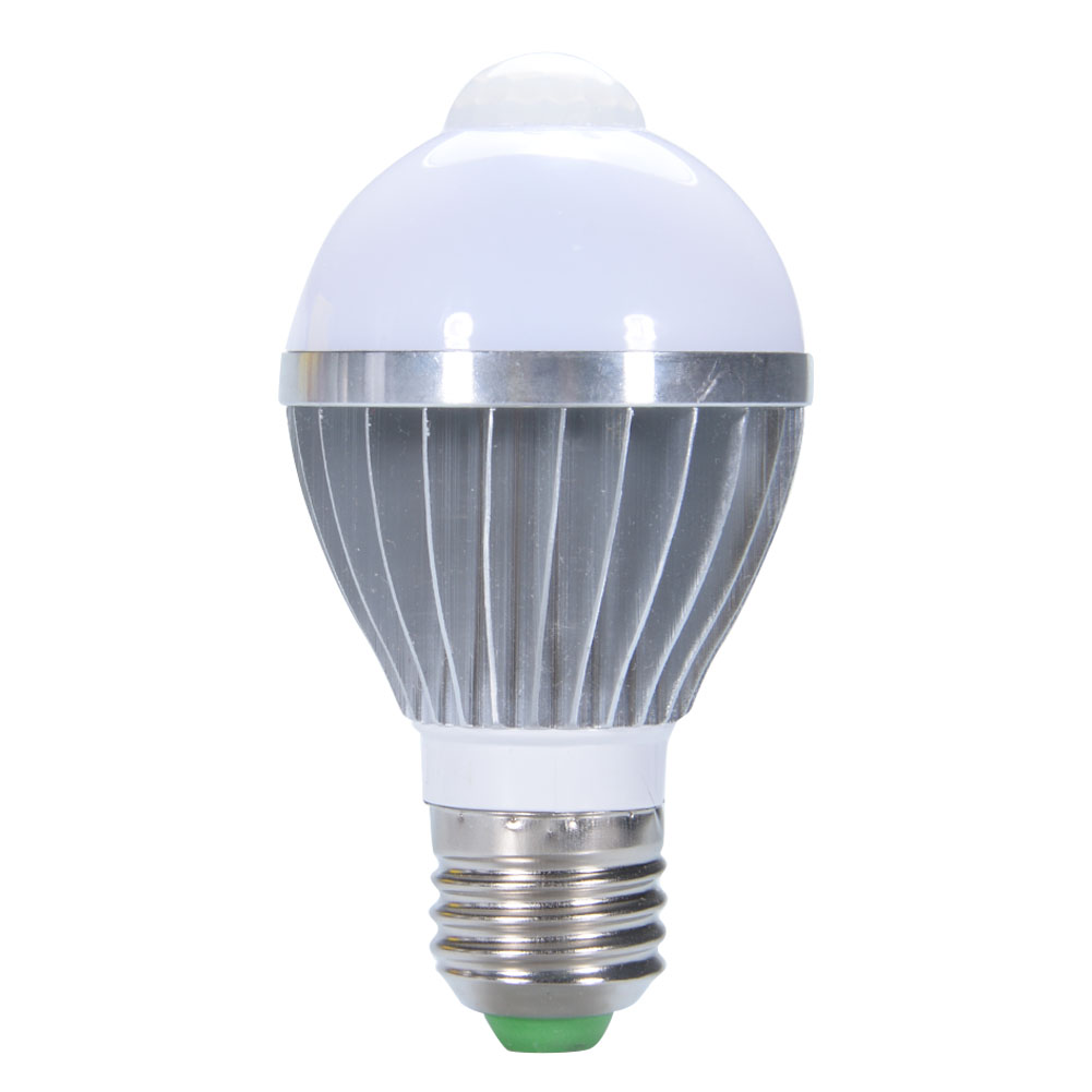 E27 Based 5W AC 85-265V PIR LED Bulb