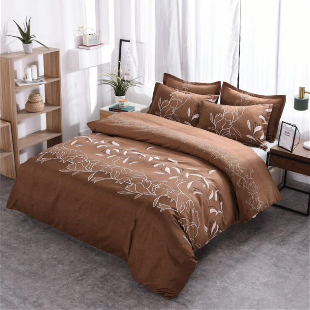 3pcs Simple  Printing Duvet  Cover Pillowcase Bedding  Sets For  Home  Hotel coffee_260x230cm(US King)