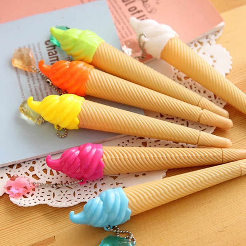 Cute Sweet Tube Ballpoint Pen 12pcs And Six Kinds Of Colors
