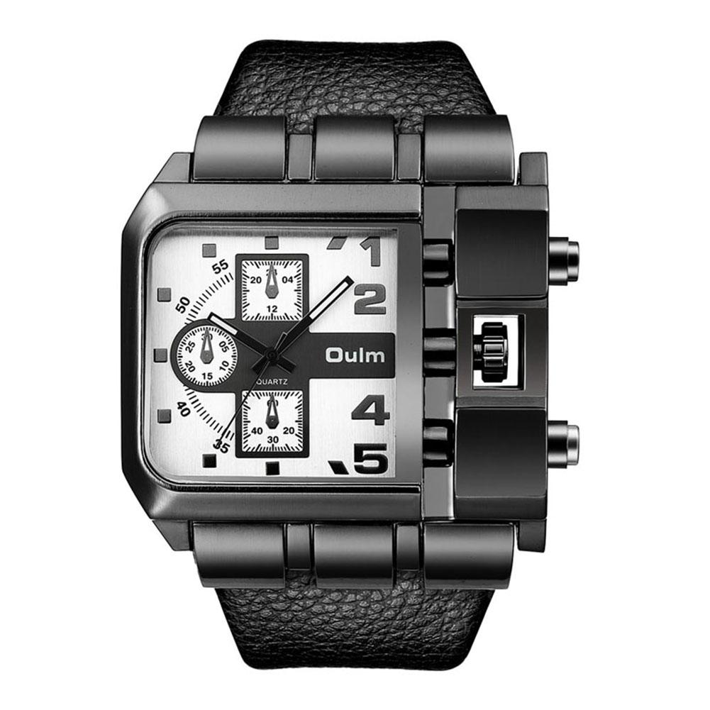 Fashion Rectangle Watch Quartz Movement Casual Wristwatch  white