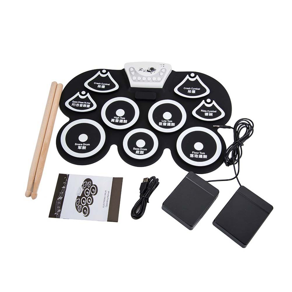 Musical Instrument Accessories Portable Electronic Drum Drumstick Foot Pedal G101 White black