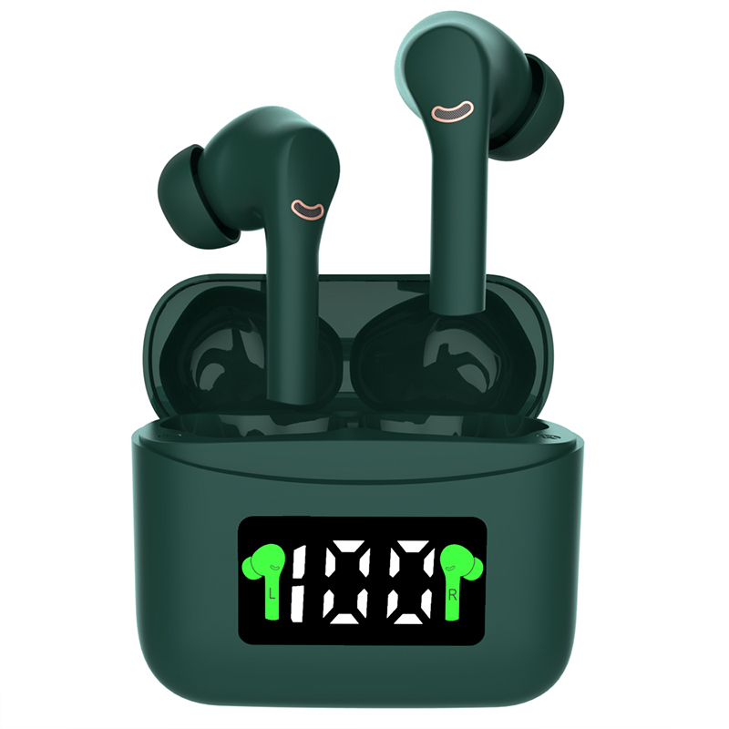 J5 Pro Hifi Headphone Noise Reduction Tws Bluetooth 5.2 Wireless Headset Sports Stereo Headset With Microphone ANC green
