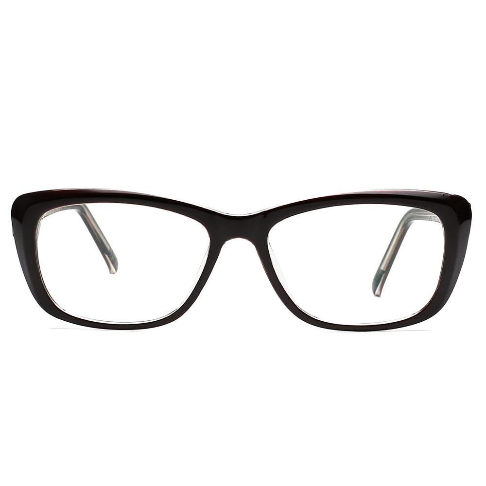 [US Direct] Cyxus Anti Blue Light Computer Glasses for Blocking UV Eye Strain Headache, Reading Eyewear (8065T01, Bright Black) Block Droplets Tea_M