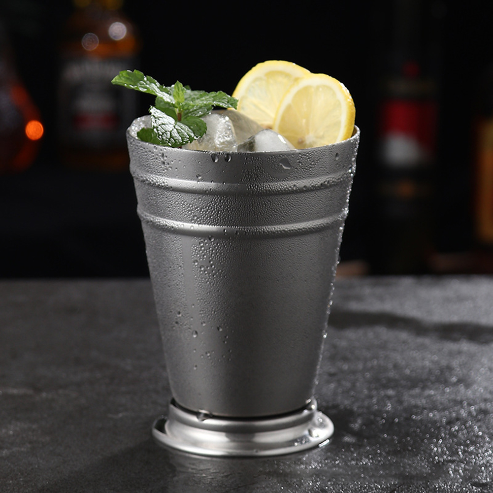 Stainless Steel Mule Mug Metal Cocktail Cup for Bar Party KTV Supplies Silver