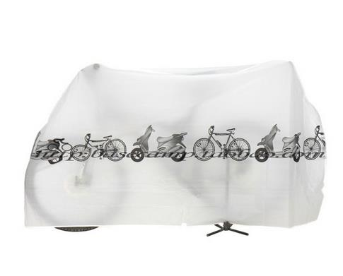 Bicycle Waterproof Cover Outdoor Portable Scooter Motorcycle Rain Dust Cover Cycling Accessories white