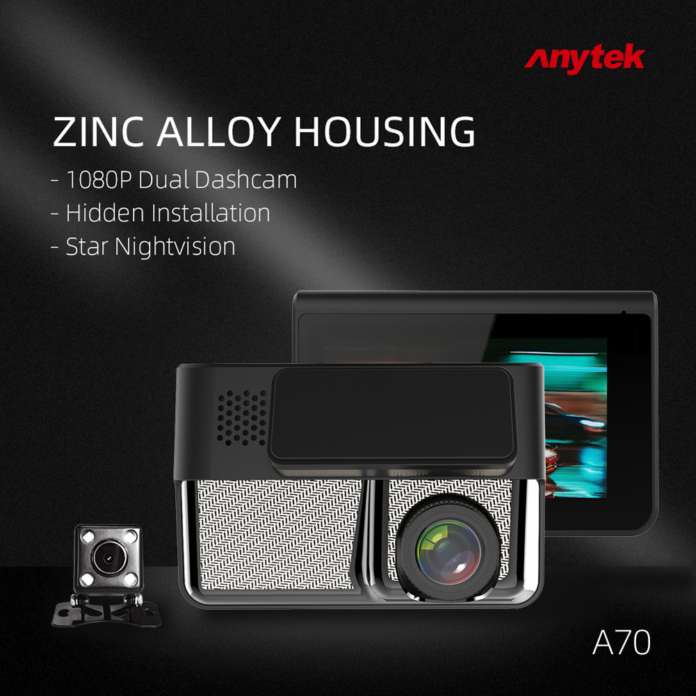Car DVR 3.0 inches Vehicle-mounted DVR FHD 1080P Automobile Data Recorder Night Vision Recorder black