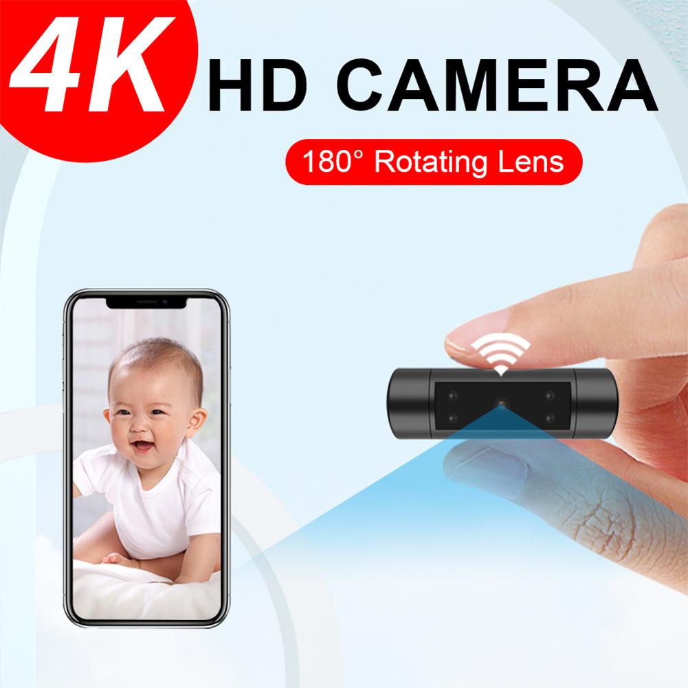 Network  Smart  Camera Hd 1080p Night Vision Wifi Camera Wireless Remote Monitoring Back Clip  Black