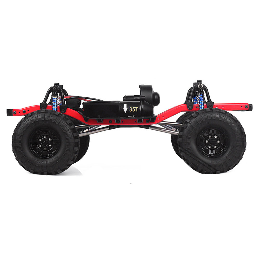 RC Car 275mm Wheelbase Assembled Frame Chassis with Wheels for 1/10 RC Crawler Car SCX10 D90 TF2 MST default