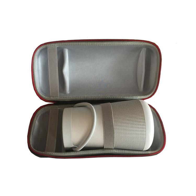 Travel Case Shockproof Headphones Storage Bag for Dr. BOSE Soundlink Revolve and Bluetooth Speaker Extra Space for Plug&Cables dark grey