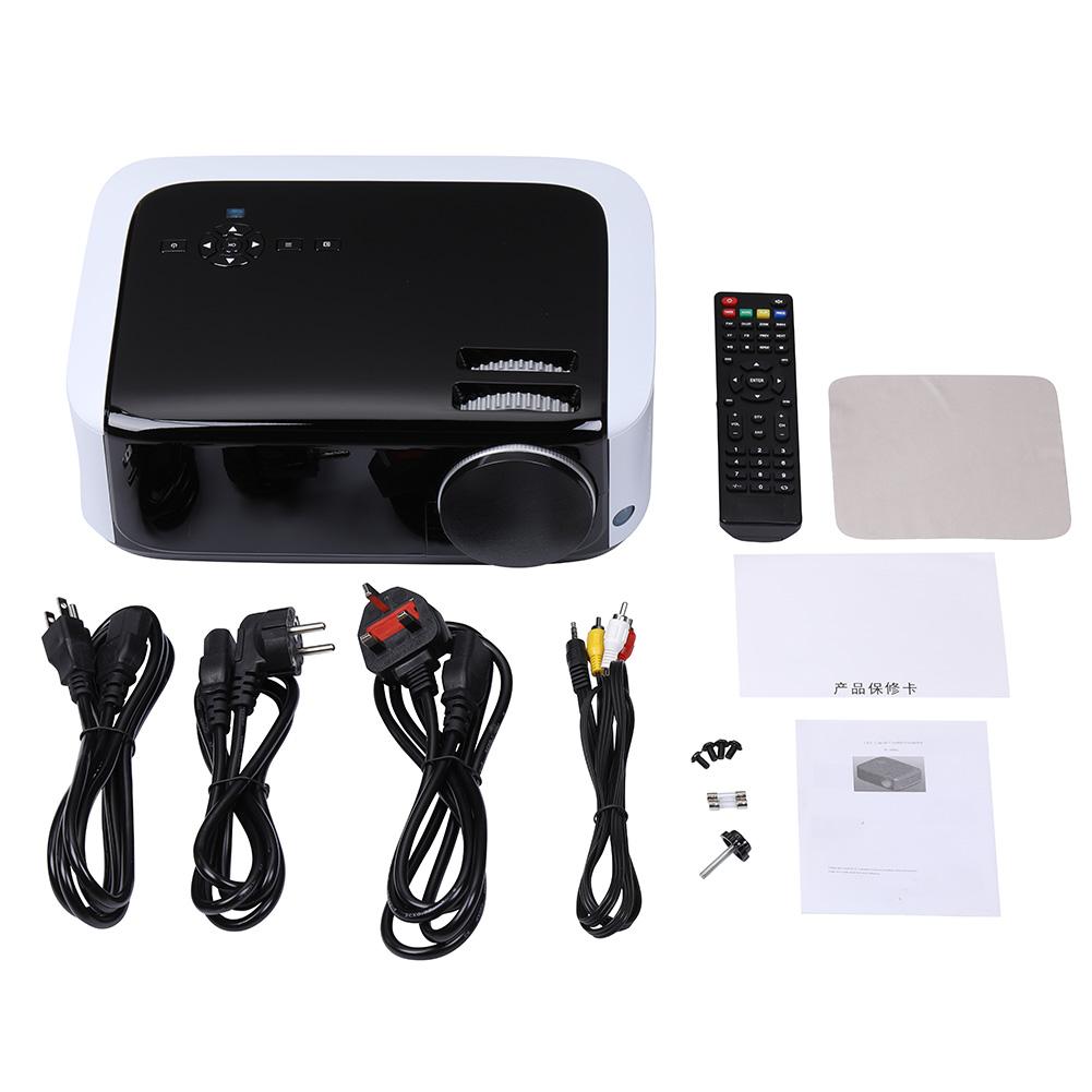 U68 Smart Projector LCD Video Portable Home Movie Theater 20000hrs LED Lamp Life 2HDMI AV VGA 2USB Interface black_U.S. regulations