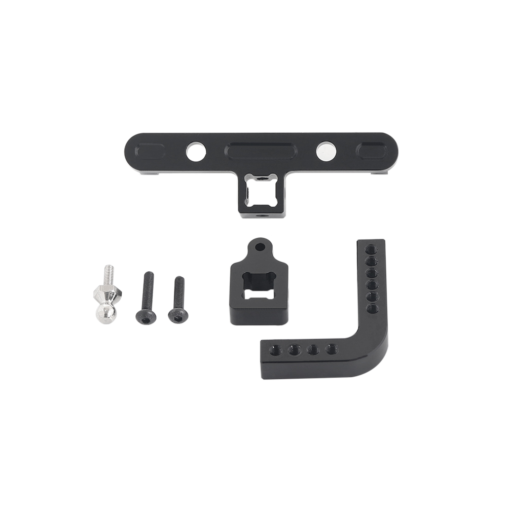1Set 1:10 RC Rock Crawler Metal Trailer Hook for Axial SCX10 90046 80156 black