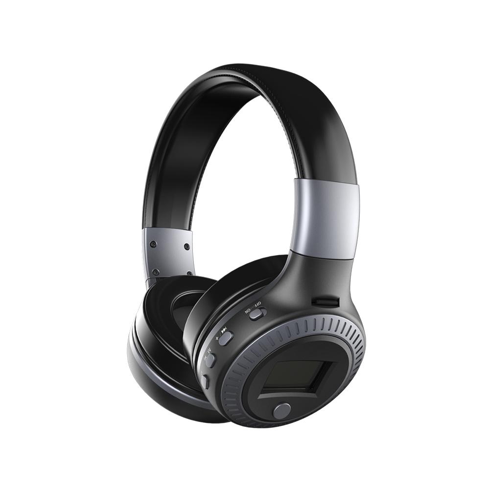 ZEALOT B19 Bluetooth 4.1 Wireless Stereo Headphones Foldable Headset Super Bass Earphones Black gray