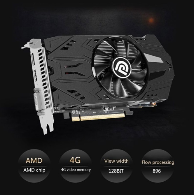 4GB RX560 4G DDR5 Desktop Gaming Graphics Cards Video Card Independent HD Game Graphics Card RX560 4G