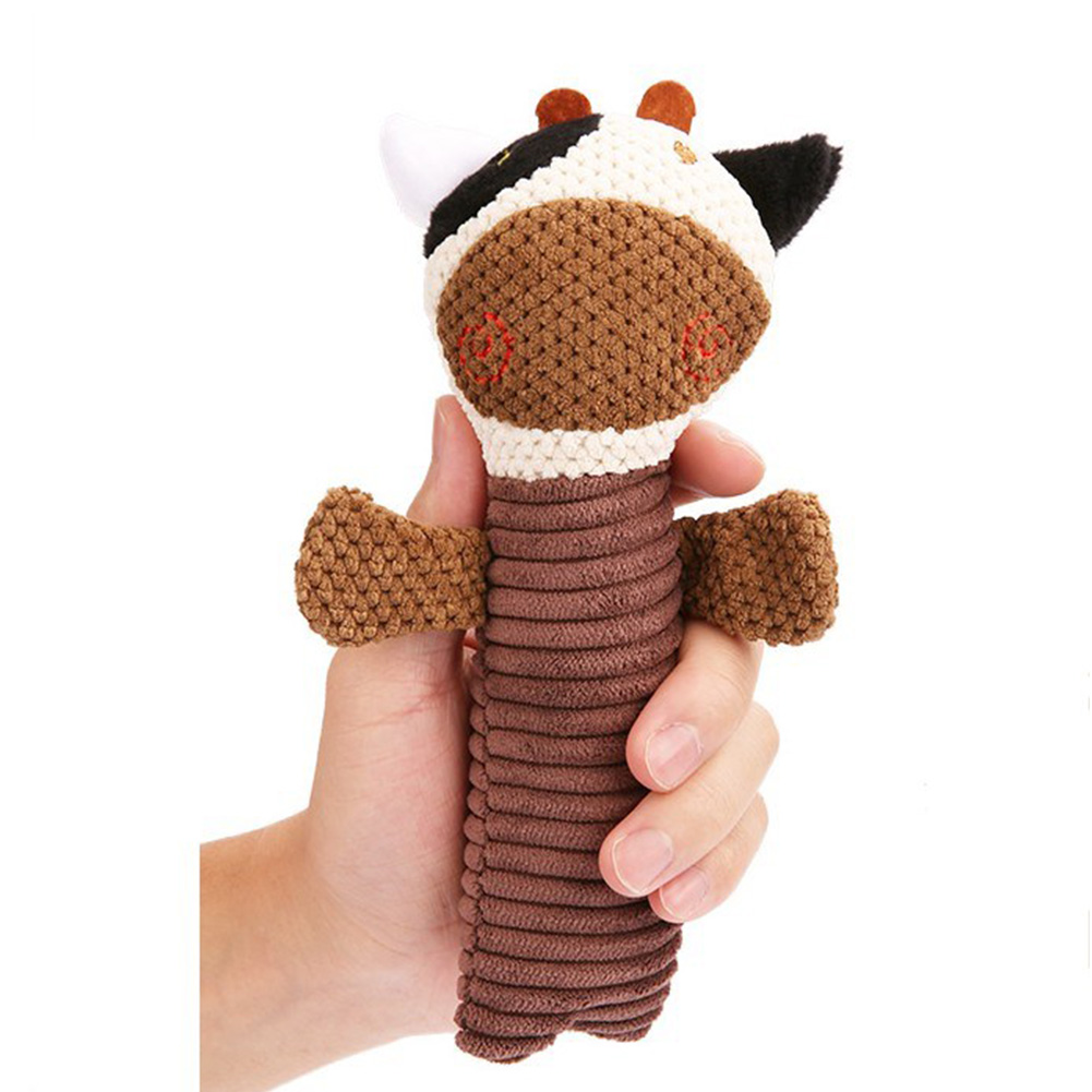 Plush Squeak Sound Dog Toys Funny Fleece Chew Molar Toy for Pets Dog Corduroy