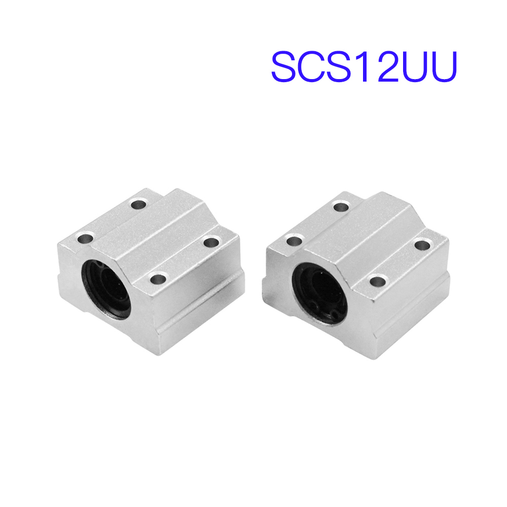 4Pcs SCS12UU 12mm Linear Motion Ball Bearing Slide Pillow Block 4-piece set of SCS12UU