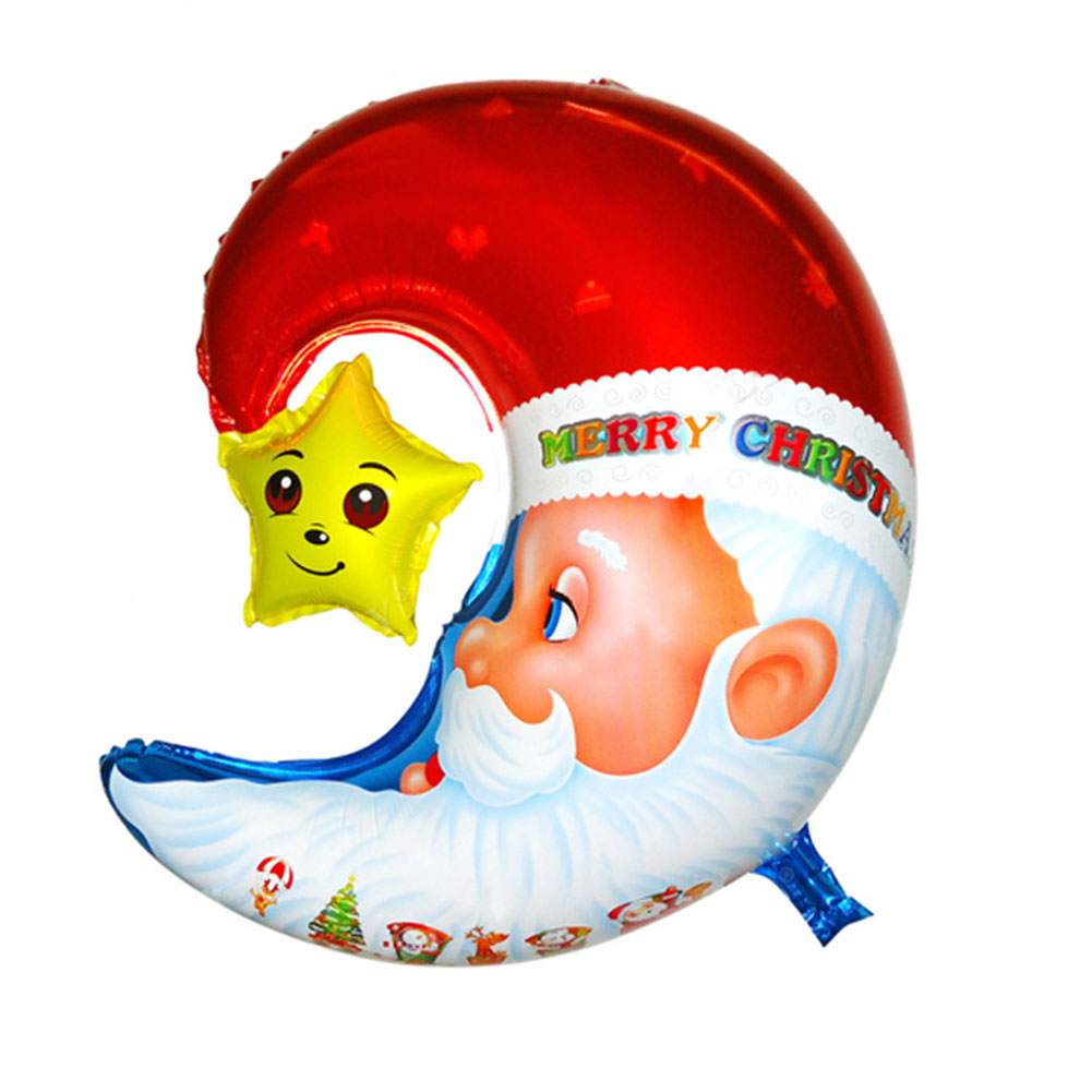 Christmas Foil Balloon Party Supplies Balloons Decoration Holiday New Year Christmas Inflatable Air Balloon Gift For Kids Moon santa claus