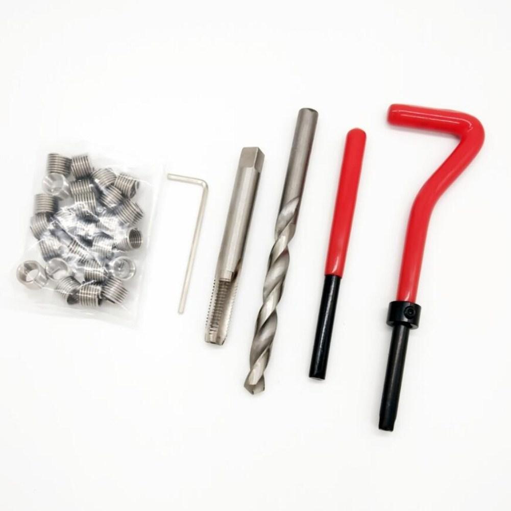 30Pcs Car Thread Repair Kit M6 Thread Tool Spanner Wrench Inserts Drill Tap Set Car Repair Tools for Restoring Damaged Threads