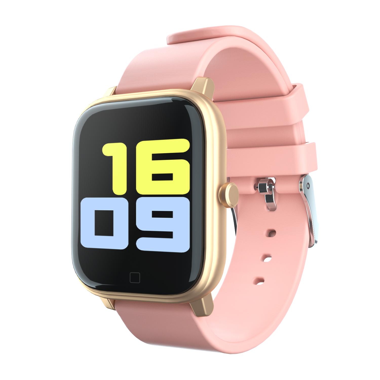 Smart Bracelet Large-screen Remote Control Selfie Heart Rate Blood Pressure Blood Oxygen Monitoring Color Smart Bracelet Pink