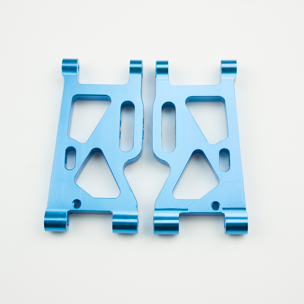2Pcs Metal Front Swing Arm for WLtoys 144001-1250 1/14 4WD RC Car Upgrade Spare Parts blue