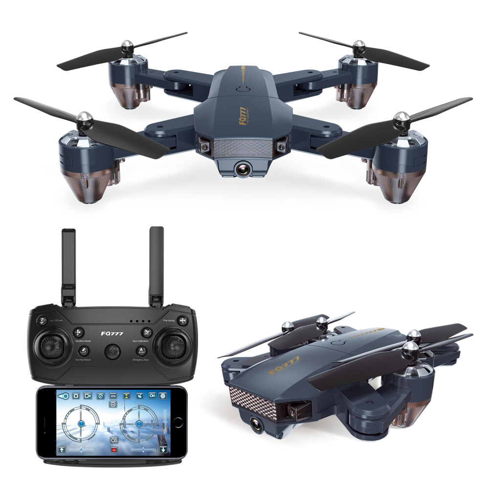 FQ777 FQ35 WiFi FPV with 720P HD Camera Altitude Hold Mode Foldable RC Drone Quadcopter RTF - 0.3MP with Battery  300,000 WIFi