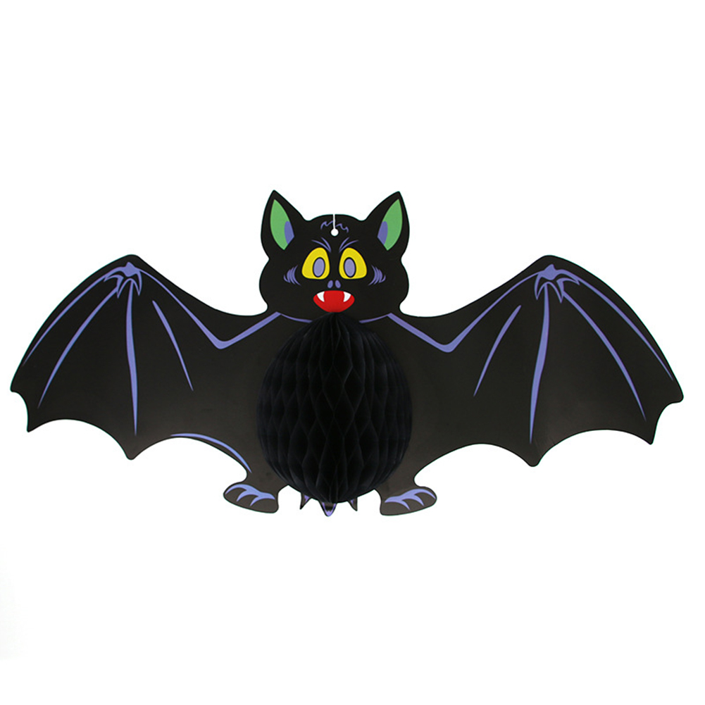 Halloween Decoration Paper Bat Spider Witch Hanging Halloween Props Bar KTV Party Supplies