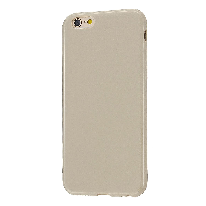 For iPhone 5/5S/SE/6/6S/6 Plus/6S Plus/7/8/7 Plus/8 Plus Cellphone Cover Soft TPU Bumper Protector Phone Shell Milk tea