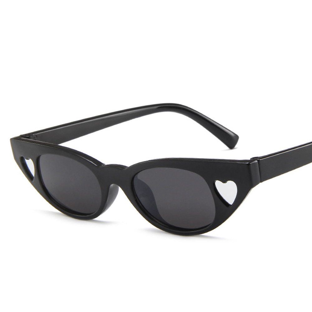 Men Women Retro All-match Small Frame Heart-shaped Sunglasses