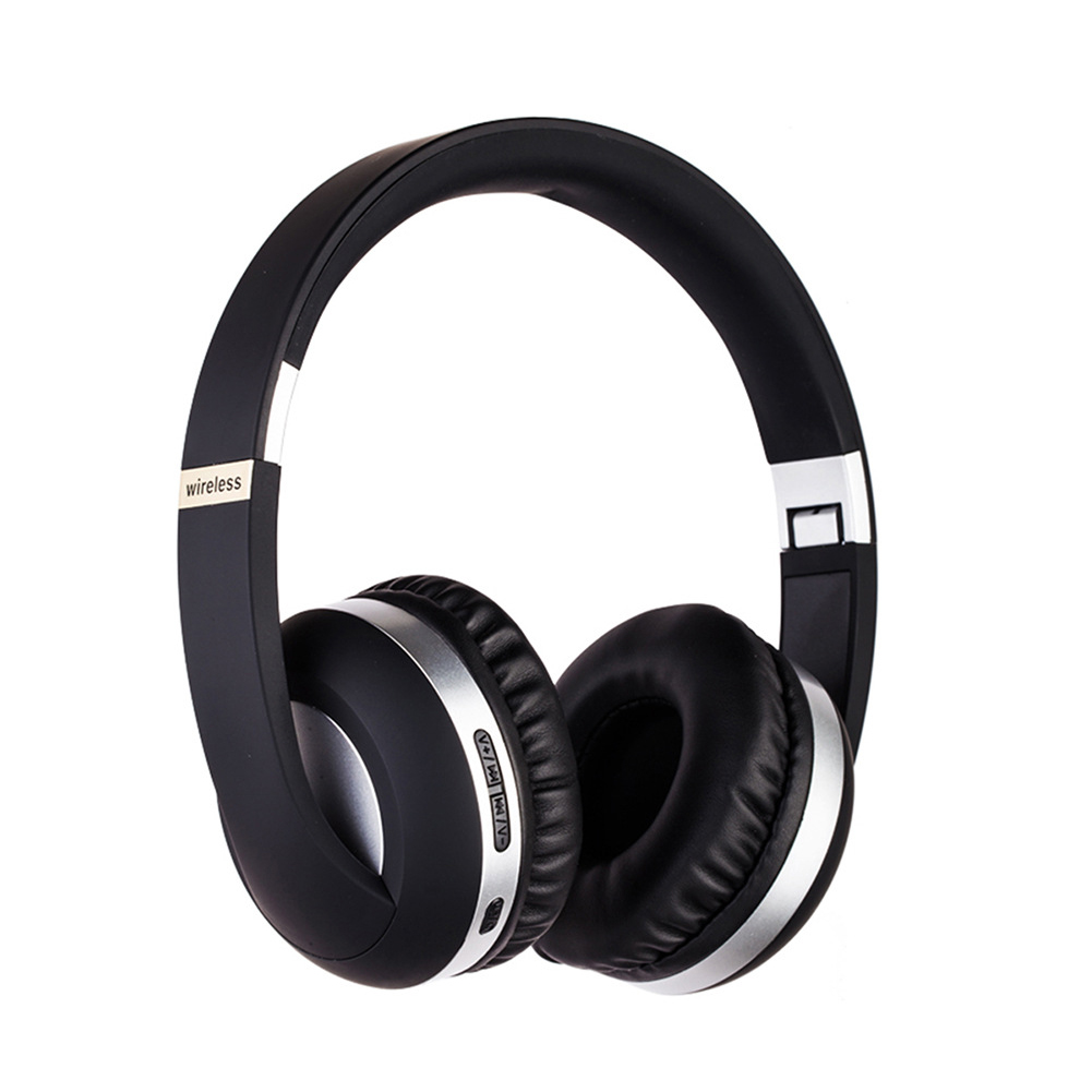 BT Headset Sport 5.0 Mobile Phone Bass Headset MH4 Silver