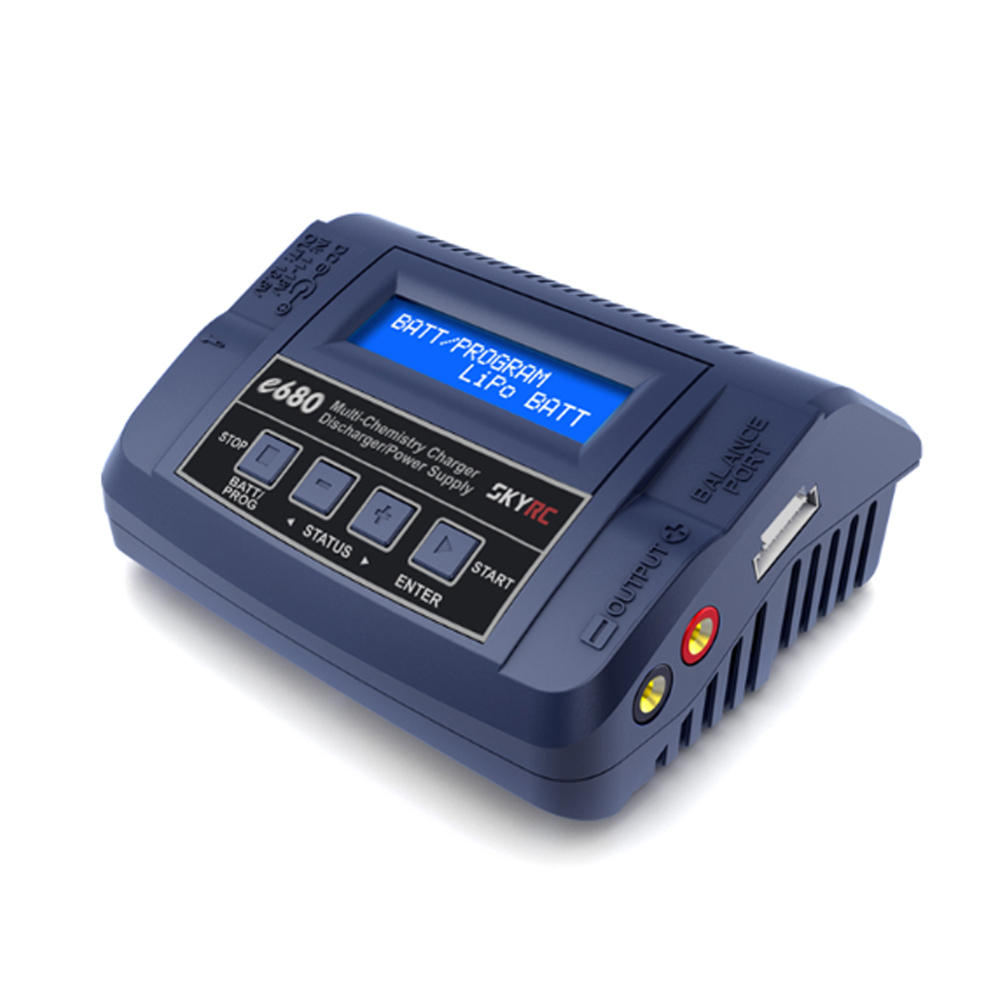 SKYRC e680 80W 8A AC/DC Balance Charger Discharger for 1-6S Lipo Battery  UK plug