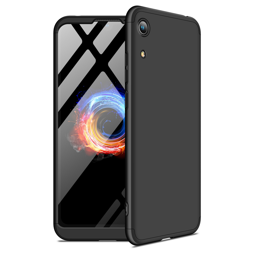 For HUAWEI HONOR 8A Ultra Slim PC Back Cover Non-slip Shockproof 360 Degree Full Protective Case black