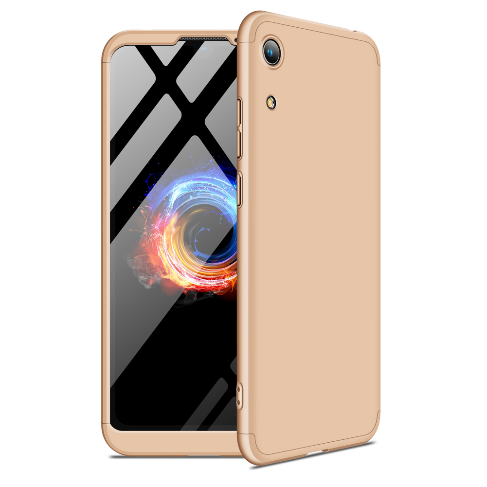 For HUAWEI HONOR 8A Ultra Slim PC Back Cover Non-slip Shockproof 360 Degree Full Protective Case gold