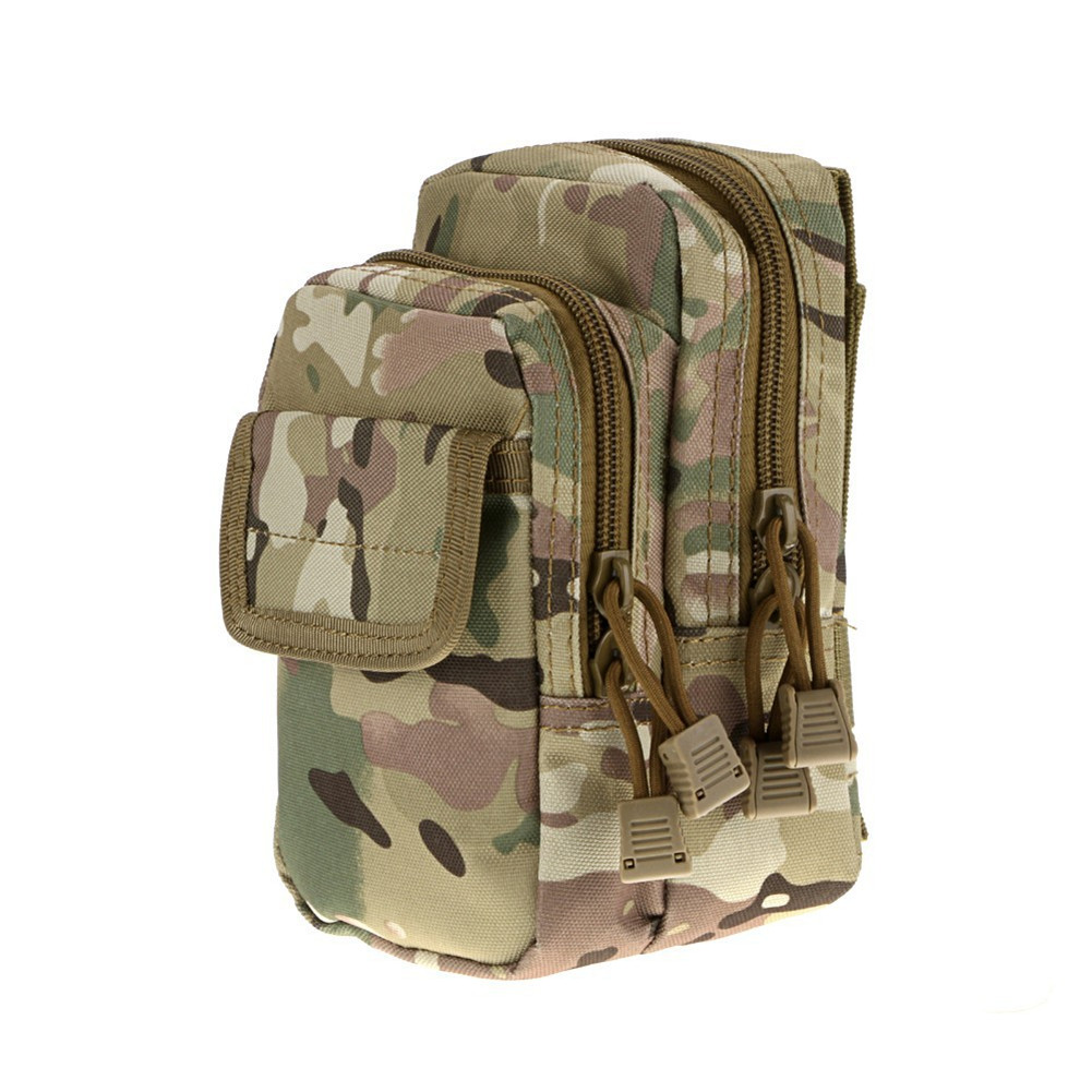 2-Layer Pouch Waist Pack Bag Fanny Pack Pocket CP camouflage_17.5x10x8.5cm