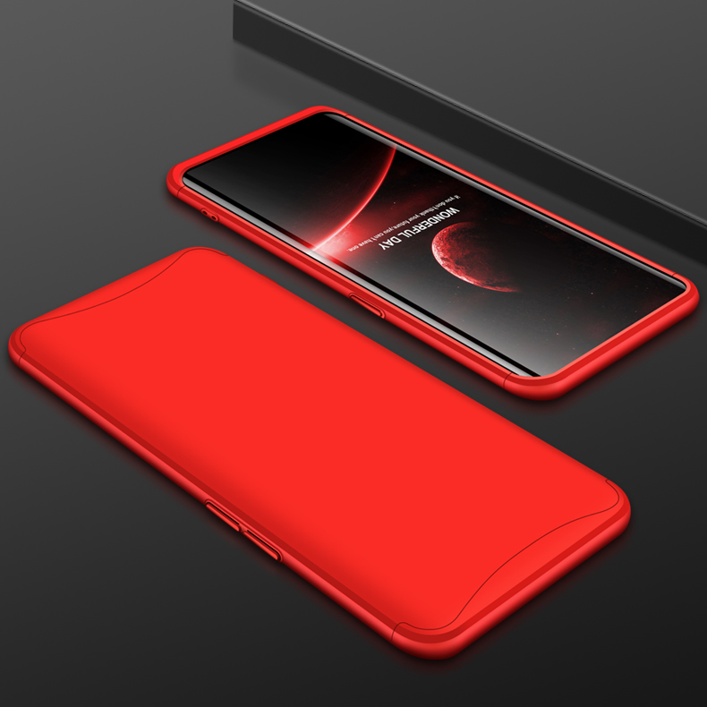 For OPPO Find X Ultra Slim PC Back Cover Non-slip Shockproof 360 Degree Full Protective Case red