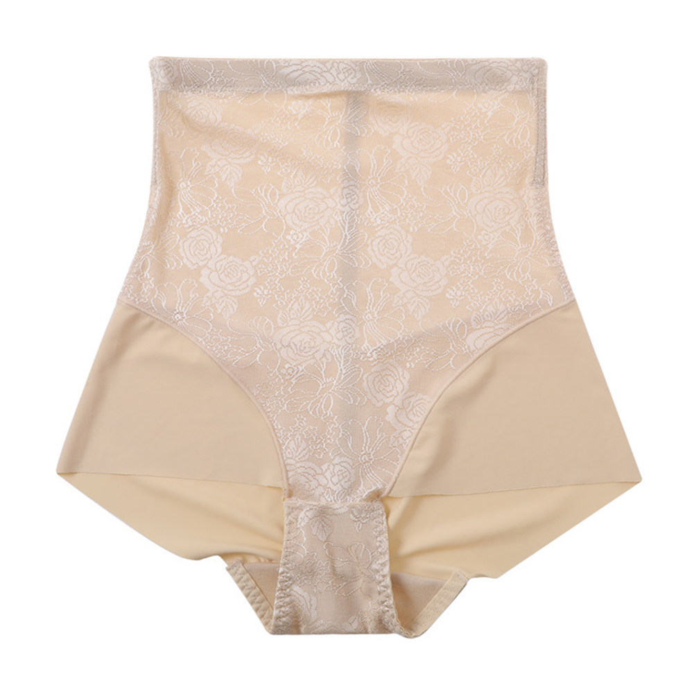 Women's Underpants No-trace High Waist Belly Tight Waist Body Shaping Breathable Hip Shaping Thin Type Underwear skin color_XXL