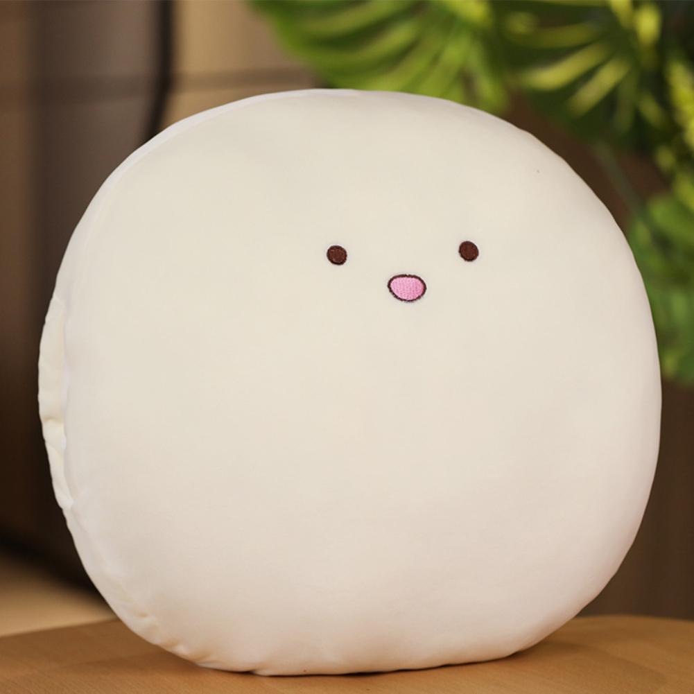 15Inches Cute Cartoon Doll Plush Toy Stuffed Throw Pillow Hand Warm Cushion for Kids Girls Nap Beige Pillow
